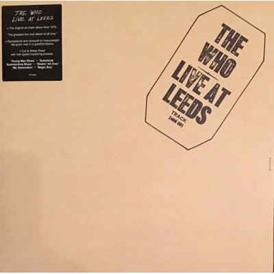 WHO: LIVE AT LEEDS LP